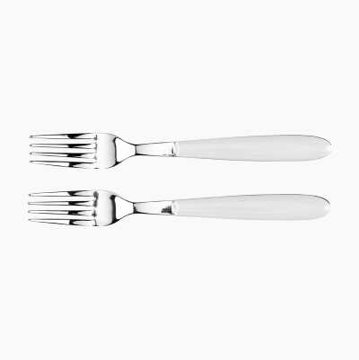 CUTLERY FORKS 2P WHITE