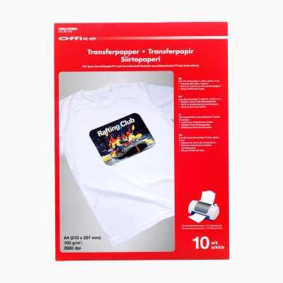 TRANSFER PAPER 10-P,BRIGHT TEE