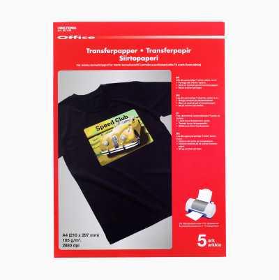 TRANSFER PAPPER 5-P, MÖRK T