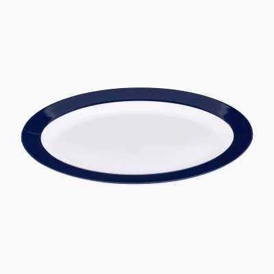 PLATE OVAL BLUE