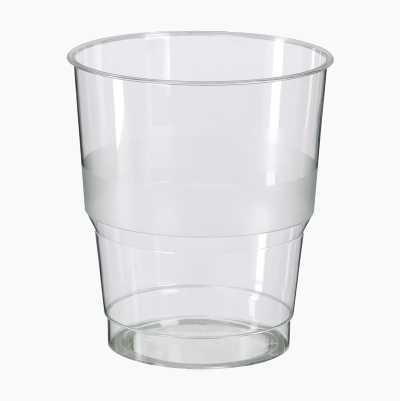 PLASTIC GLASS, 25 CL, 25-P
