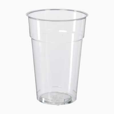PLASTIC GLASS 50 CL, 25-P