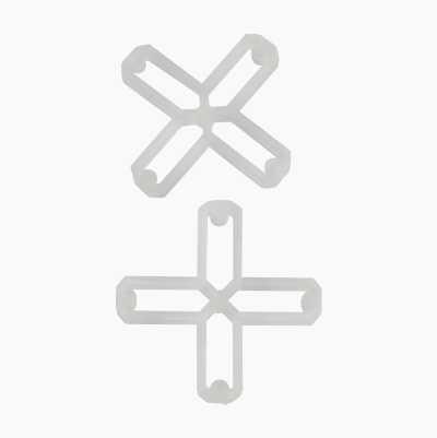 TILE CROSS 6MM HOLLOW 250PCS/S