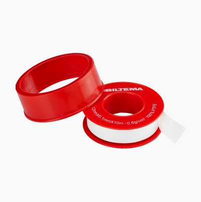 """THREADTAPE """"PRO"""" RED 12MM X 10"""
