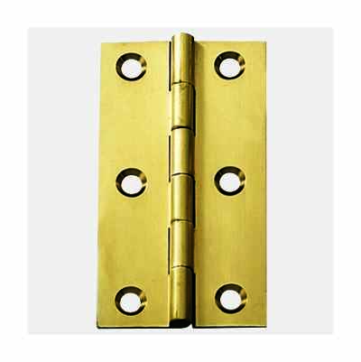 2PCS BRASS BUTT HINGE 75X40MM