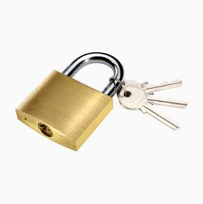 PADLOCK 1PCS BRASS 3KEYS