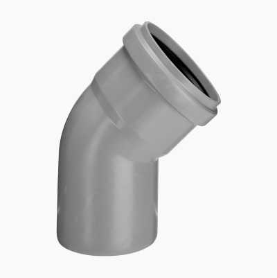 DRAIN ELBOW 45°,1 SLEEVE, 75MM