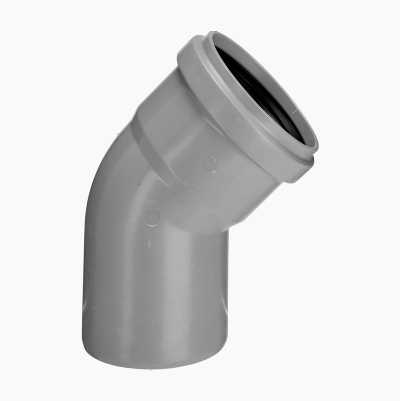 DRAIN ELBOW 30° 1 SLEEVE, 75MM