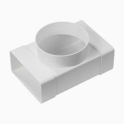VENT T-JOINT ROUND-FLAT Ø100