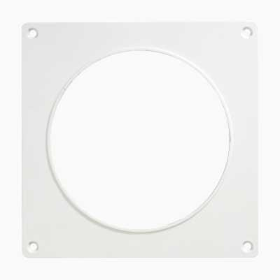 WALLPLATE D-125MM WHITE