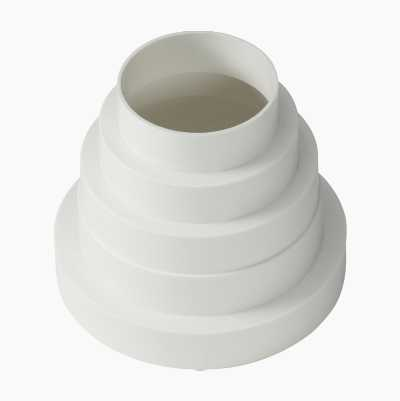 REDUCER ROUND 150-80MM WHITE