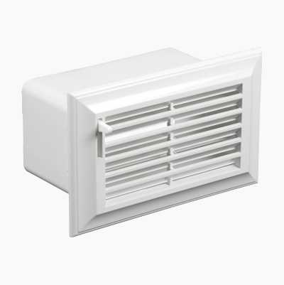 DUCT GRILLE 110X55MM ADJ.WHITE