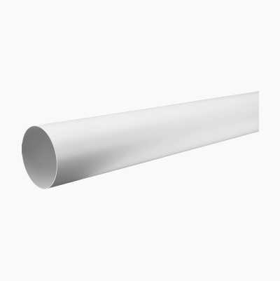 125MMX2M ROUND DUCT PIPE WHITE