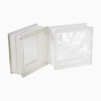 GLAS BLOCK TRANSPARENT 19X19X8