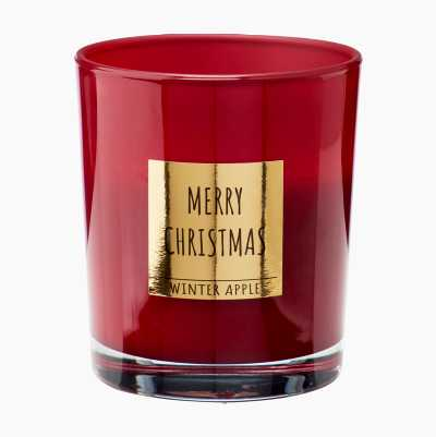 CANDLE GLASSJAR WITH SMELL RED