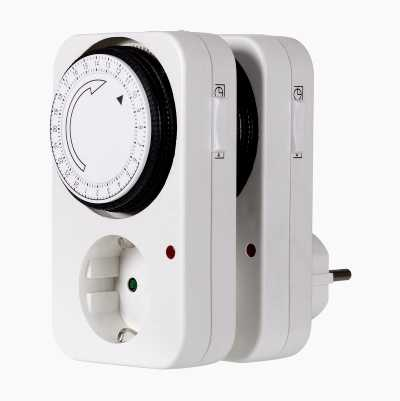 TIMER INDOOR 24H 2PCS