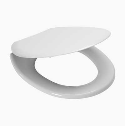 TOILETSEAT SOFTCLOS. WHITE PLA