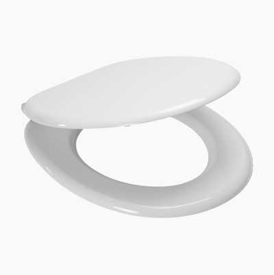 TOILETSEAT SOFTCLOS. WHITE MDF
