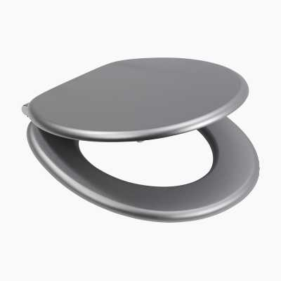 TOILET SEAT IN CHROME/SILVER