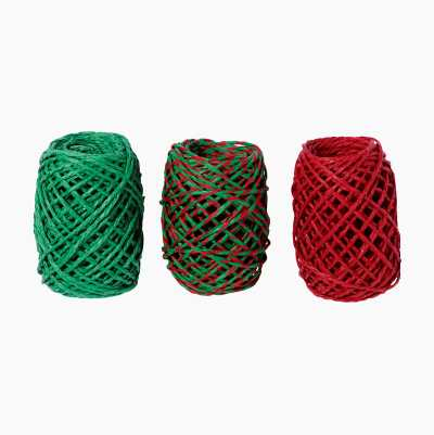 PAPER STRINGS RED/GREEN 3PCS