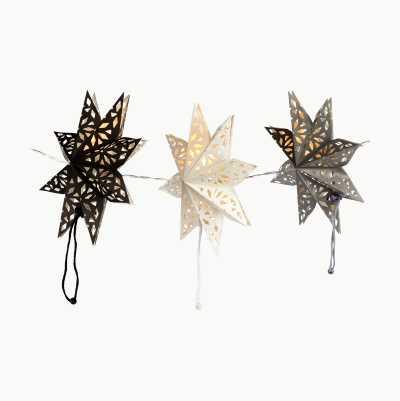 BLACK, GREY AND WHITE STAR LED
