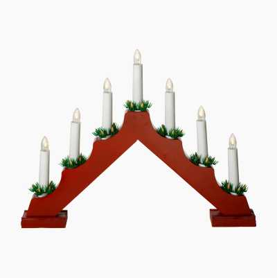 ADVENT CANDLEHOLDER RED BATTER