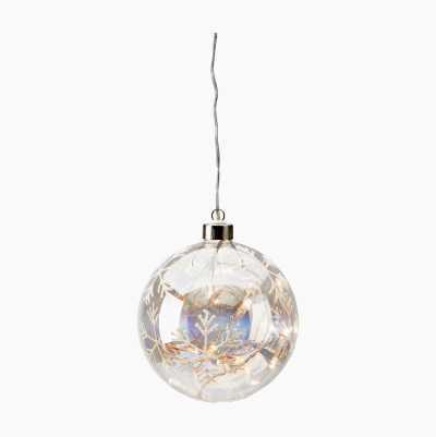 LED GLASSBALL W LIGHT 13CM