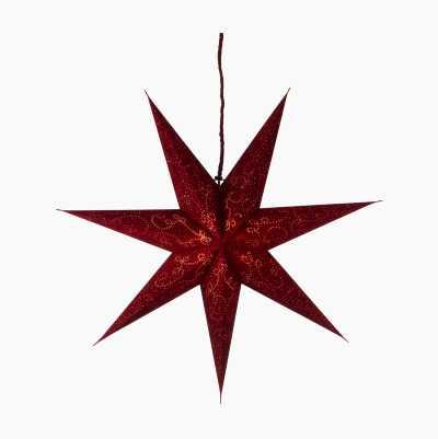 60CM MAROON GROUND VELVET STAR