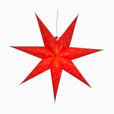 RED PAPER STAR 60CM 7 POINTER