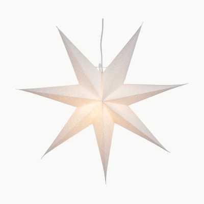 WHITE PAPER STAR 60CM 7 POINTE