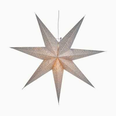 SILVER PAPER STAR 60CM 7 POINT