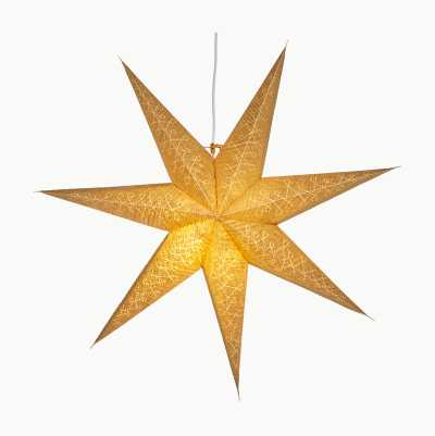 GOLDEN PAPER STAR 60CM 7 POINT