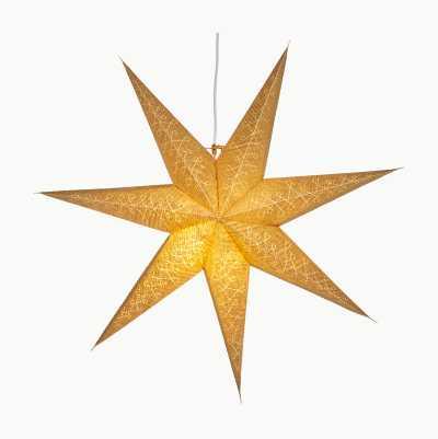 GOLDEN PAPER STAR 60CM 7 POINT