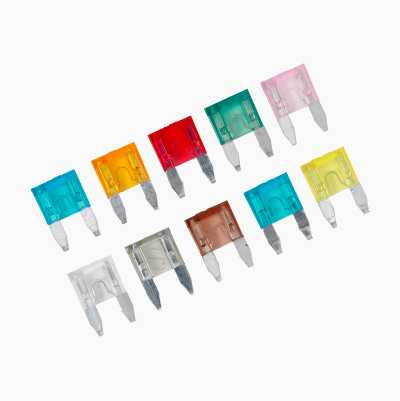 Flat Pin Fuses, mini, 10-pack
