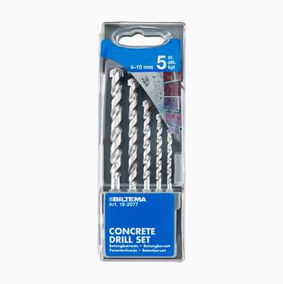 Concrete Drill Set, 5 pcs