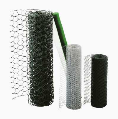 Elforzinket net med plastovertræk