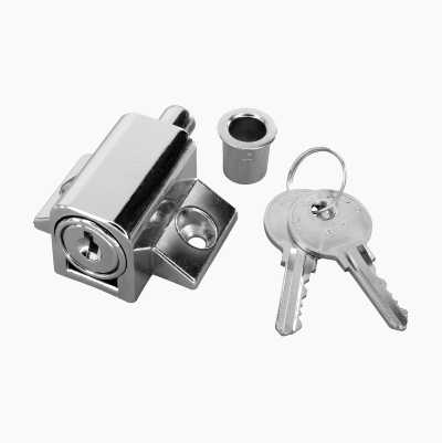 Cylinder lock with trunnion