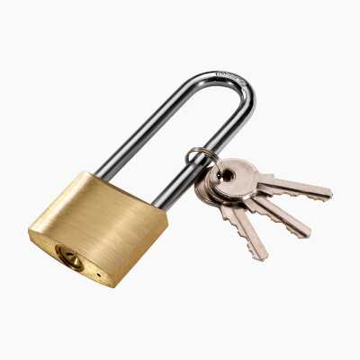 Padlock, long shackle
