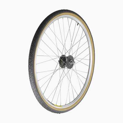 Front wheel with hub dynamo from Shimano