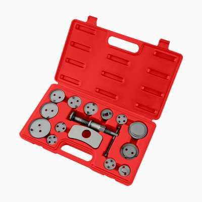 Brake piston tool kit, 15 parts