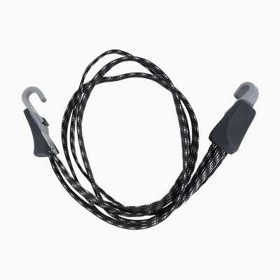 Pannier strap for bicycle racks