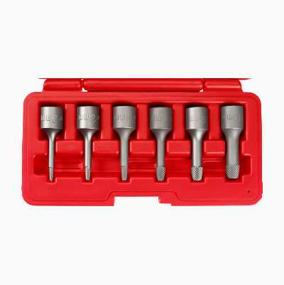 Screw Extractor Set, 6 parts