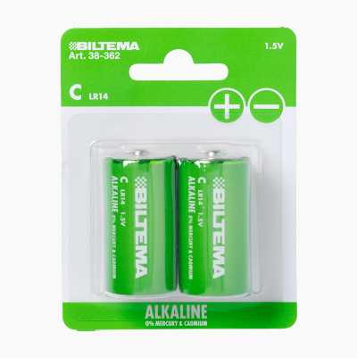 C/LR14 Alkaline Batteries, 2-pack