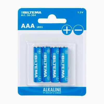 AAA/LR03 Alkaline Batteries, 4-pack