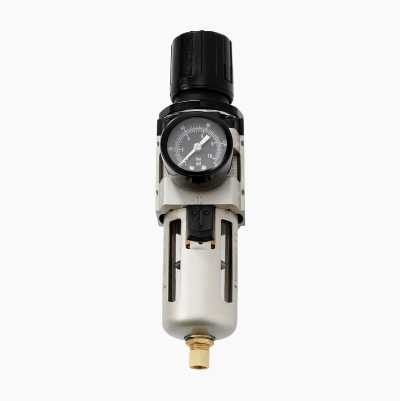 Pressure regulator with filter.