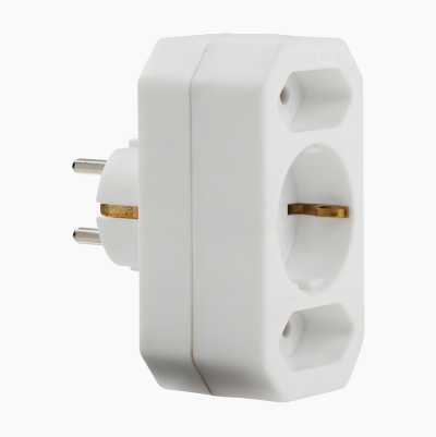 Multi-Socket Plug, earthed