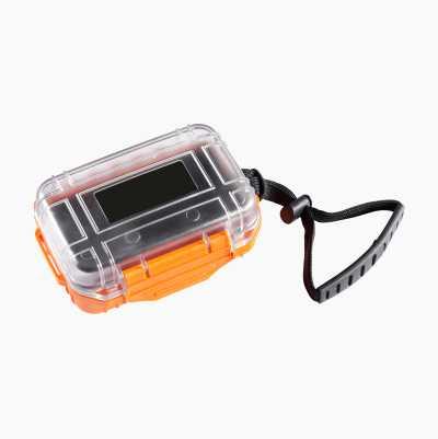 Waterproof and impact resistant box.