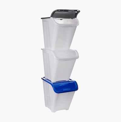 Oppevaringskasse med lokk