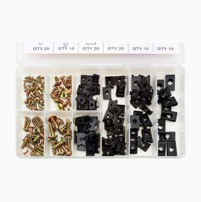Clip Nuts and Metal Screw Assortment, 170 pcs.