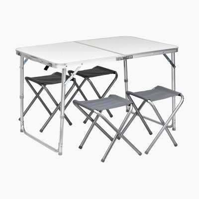 Picnicbord med 4 klapstole